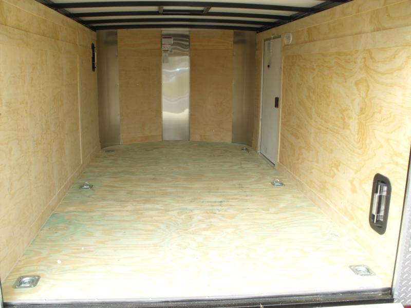 Enclosed Trailer 7 X 12 RAMP  DOOR 7000 GVW  Motorcycle Transporter  5'Height Silver Mist In Color