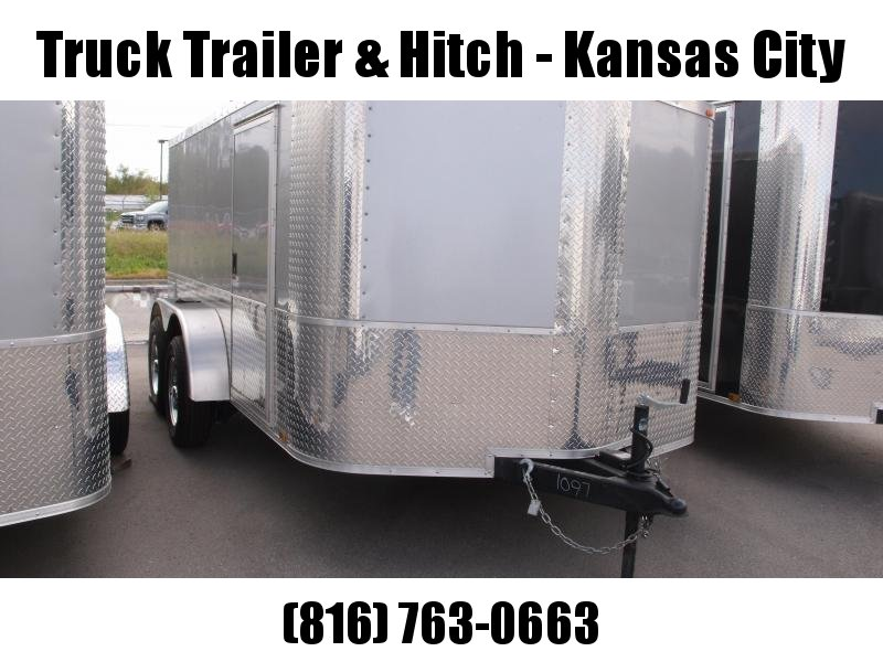 Enclosed Trailer 7 X 12 RAMP  DOOR 7000 GVW  Motorcycle Transporter  5'Height Silver Mist In Color