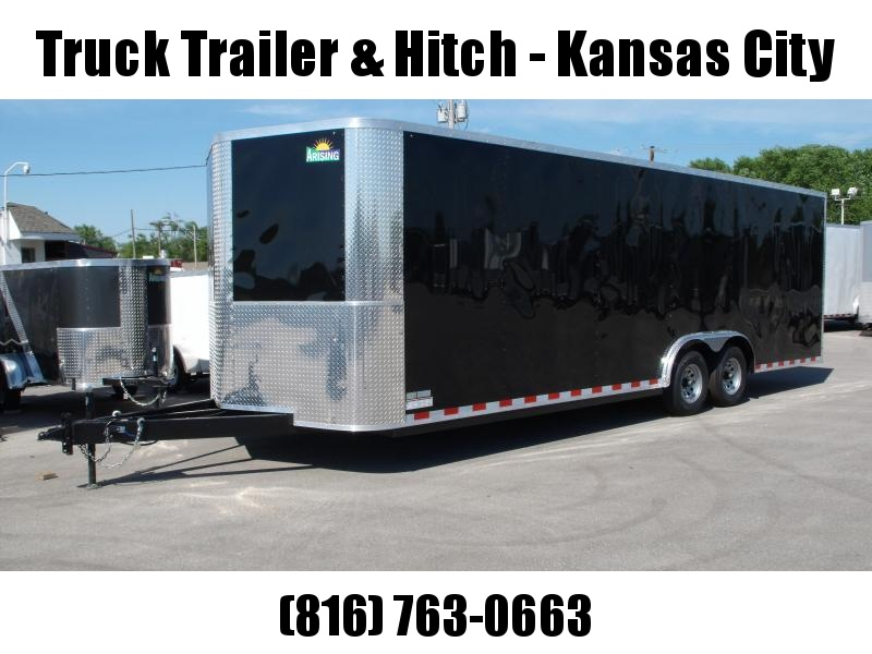 Enclosed Trailer 8.5 X 24 Ramp Dove Tail (( 7' Height))  Razor Trailer   10.400 GVW ALL Tube Construction Color Black