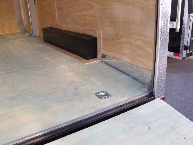 Enclosed Trailer 8.5 X 16 Dove Tail With HD Ramp   7'  Interior 9990 GVW ALL TUBE Construction White  In Color   4 Wheel Brakes