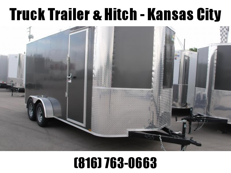 Enclosed Trailer 7 X 16 Ramp 7' Interior Height   Medium Charcoal In Color ALL Tube Construction