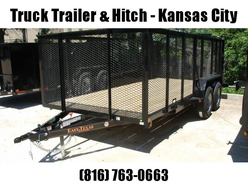 High-Wall  Landscape Trailer 83 X 16 Heavy Duty Tube  Ramp 7000 GVW