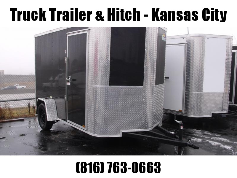 Enclosed Trailer 6 X 10 RAMP Color BLACK   All Tube Construction