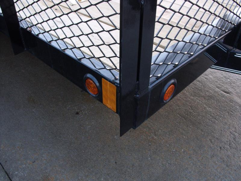 High-Wall 4' Walls Landscape Trailer 83 X 12 Spring Assisted Gate Tool Box