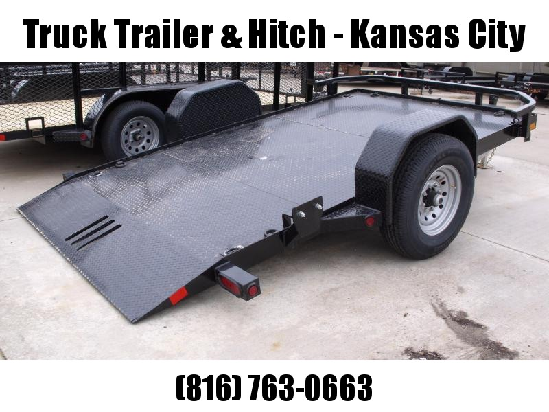 Tilt Trailer Scissor Lift Trailer 83 X 12 Gravity  Tilt 7000 # Axle ALL Steel Trailer Brakes