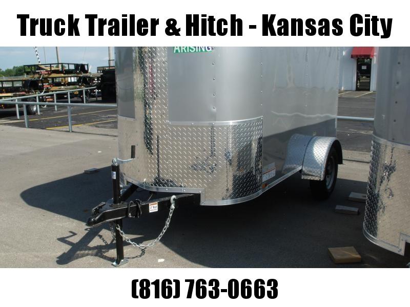 Enclosed Trailer 4 X 8 Barn Door   Silver Mist  In Color 2000 # Axle ALL Tube Construction