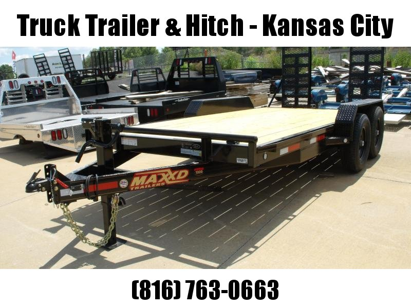 Equipment Trailer 83 X 16  Ramps 14000 Combo Ramps Covered With Number 6 HD Mesh