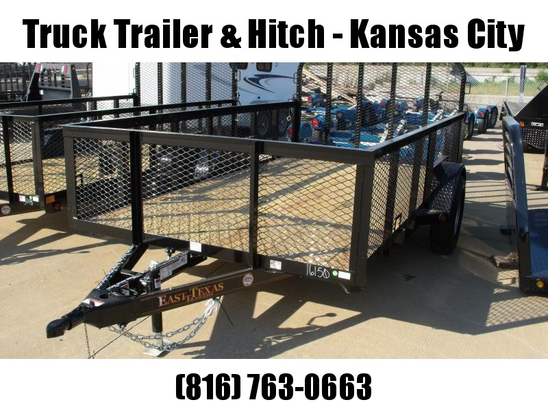 High-Wall Utility Trailer 72 X 10 Tube Gate 2990 Axle