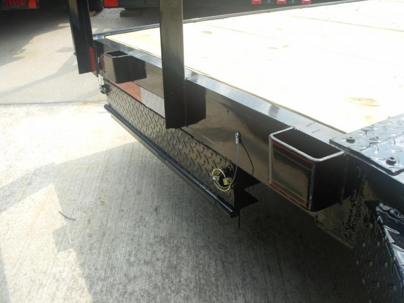 Car HaulerTrailer 83 X 20 12000 GVW 4 WL Brakes Ramps Pipe Rail Top