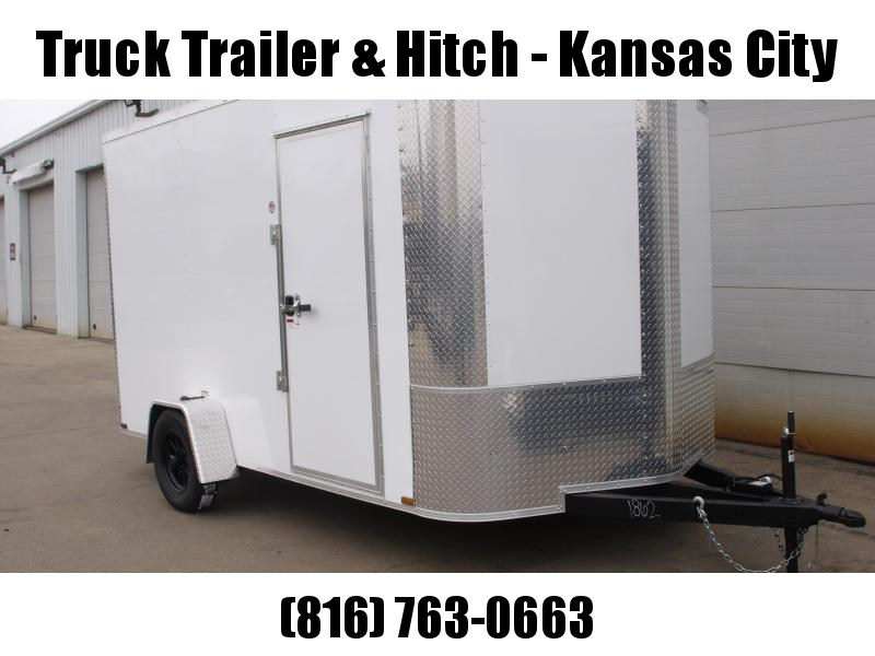 Enclosed Trailer 7 X 12 RAMP  DOOR 2990 GVW   7'   Height White  In Color