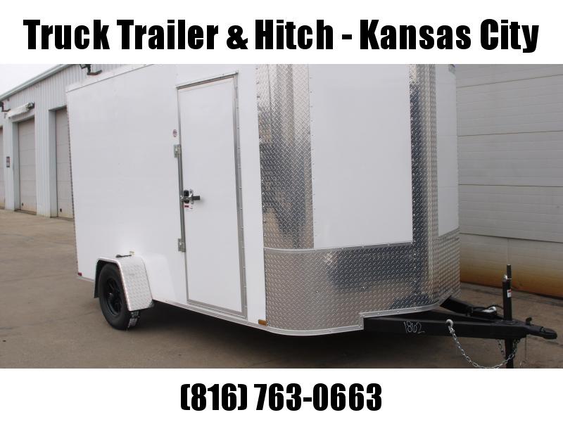 Enclosed Trailer 7 X 12 RAMP  DOOR 2990 GVW   7'   Height White  In Color