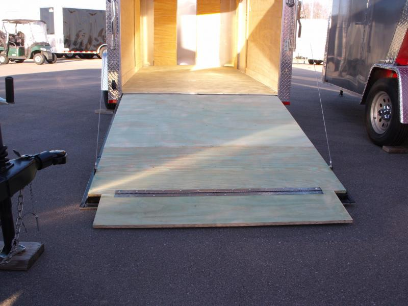 "Enclosed Trailer 6 X 12 Ramp All Tube Construction Two Tone  Silver Mist  In Color 6' 6"" Interior Height"