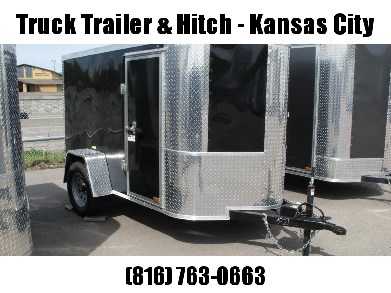 Enclosed Trailer  5 X 8 Ramp 5'  ((FITS IN GARAGE))  Height Black In Color