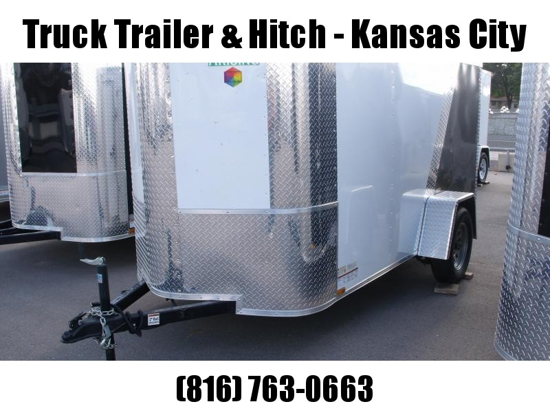 Enclosed Trailer 5 X 10 Ramp  Color White Front/ Charcoal Rear ALL TUBE Construction 5'  Interior