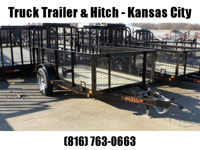 High-Wall Trailer 5 X 10 Wood Deck  Steel Mesh Sides 2990 Axle