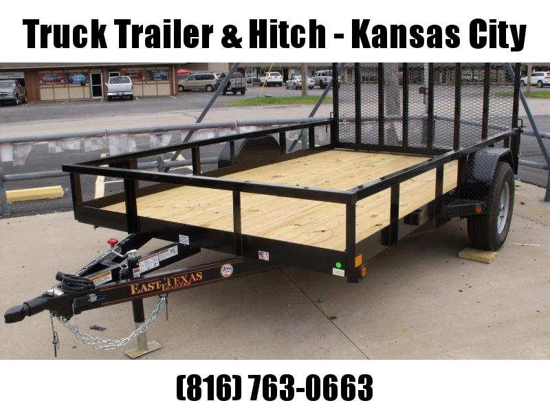 Utility Trailer 83 X 12 Ramp 4495# Axle Brakes Wrapped Tongue Tube Top HD/Ramp