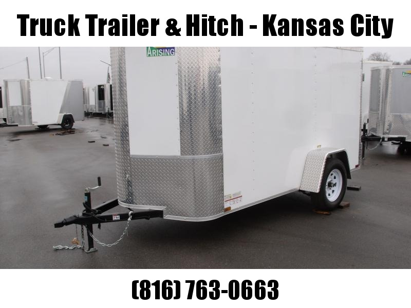 "Enclosed Trailer 5 X 10     BARN DOORS   Color White In Color ALL TUBE Construction 5'6""   Interior"