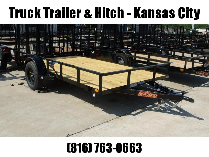 Utility Trailer 83 X 12 Front &And Rear Folding Gate 2990 Axle MAXXD