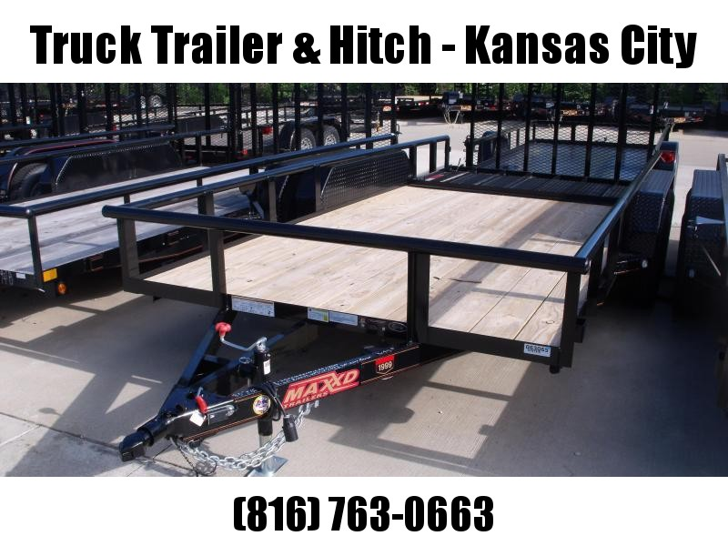83 X 16 ATV/Utility Trailer 7000 GVW FRONT AND REAR FOLDING GATE(Very Low Wind Resistance)