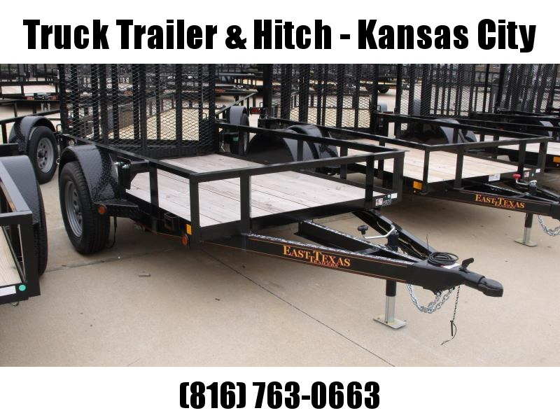 Utility Trailer 5 X 8 Spring Assisted Tubular Gate  Flush Mounted LED Lights