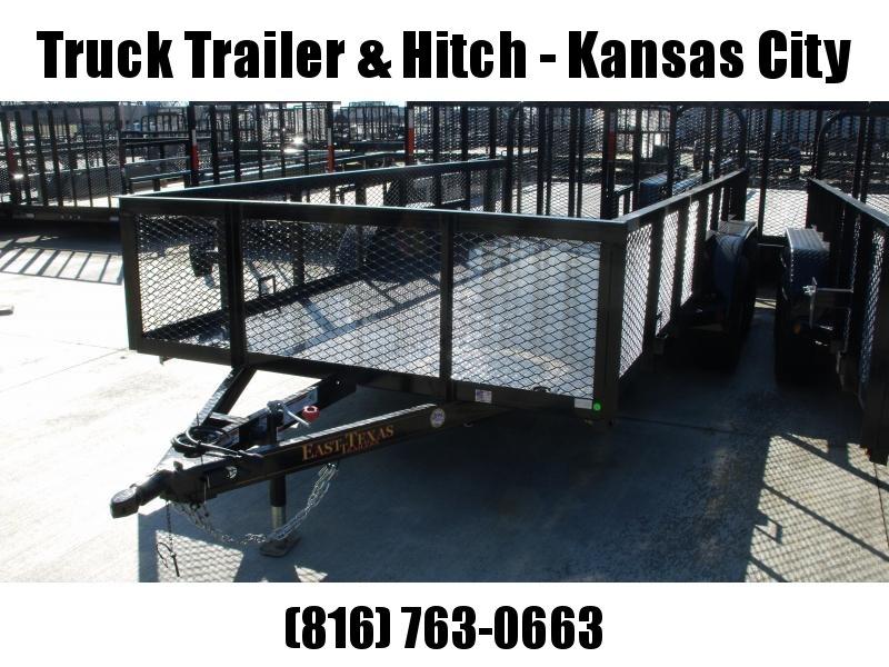 High-Wall  Landscape Trailer 83 X 16  Ramp  Metal Deck 7000 GVW