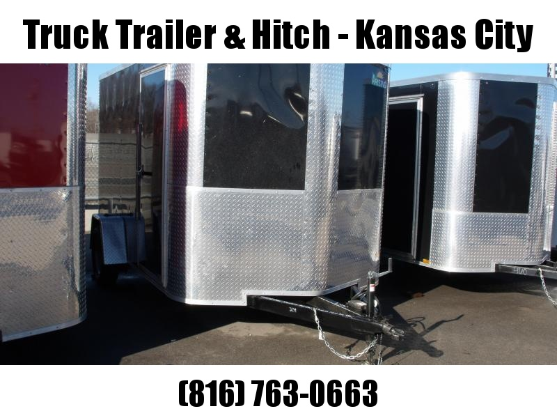 """Enclosed Trailer 7 X 10 Ramp 6' 6"""" Height    All Tube Construction Black   In Color"""