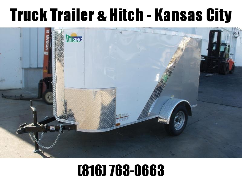 Enclosed Trailer For The Smaller Vehicles  4 X 8 Barn Door  White/Silver Mist In Color 4' 6