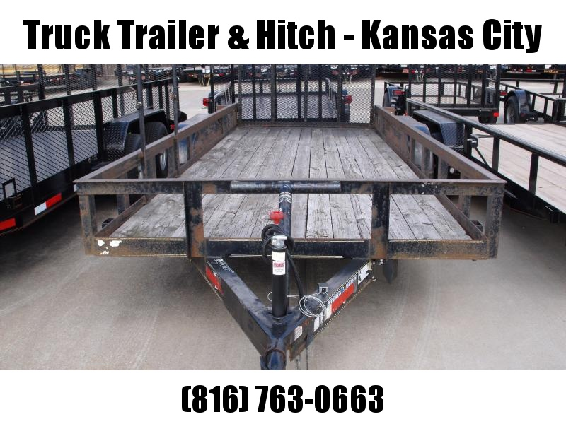 Used Trailer 77 X 18 Four Wheel Brakes 7000 GVW Landscape