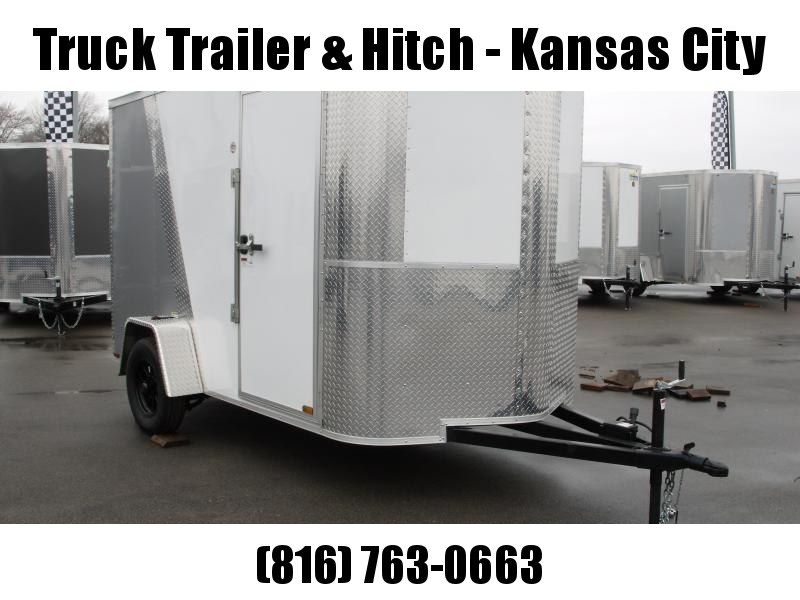 "Enclosed Trailer 6 X 10 Ramp 6' 6"" Interior Two Tone In Color White Front  /  Silver Mist Rear  All Tube Construction"