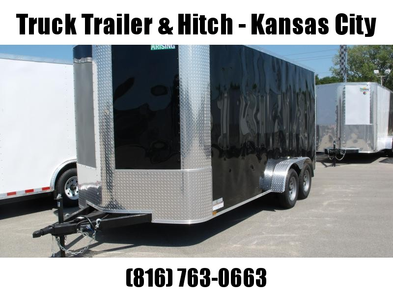 Enclosed Trailer 7 X 16 Ramp 7' Interior Height   Black  In Color ALL Tube Construction
