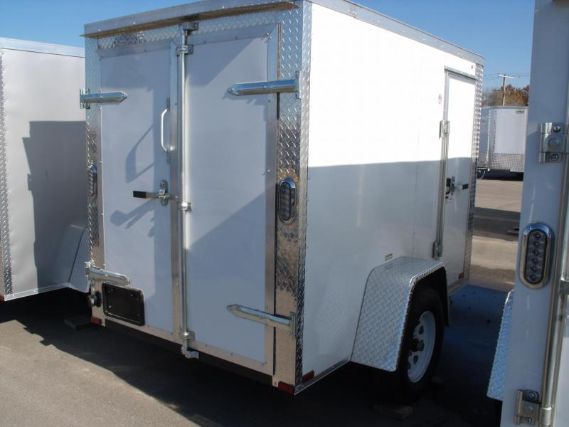 """Enclosed Trailer  5 X 8  BARN DOOR   5'6"""" Height  ALL Tube Construction  White   In Color"""