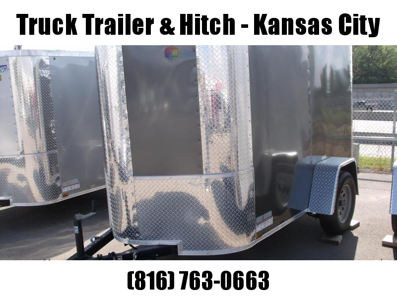 Enclosed Trailer  5 X 8 Ramp 5' Height Charcoal In Color