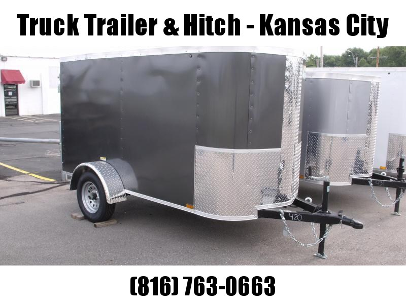 Enclosed Trailer For The Smaller Vehicles  4 X 8 Barn Door 4' 6 Charcoal In Color In Color