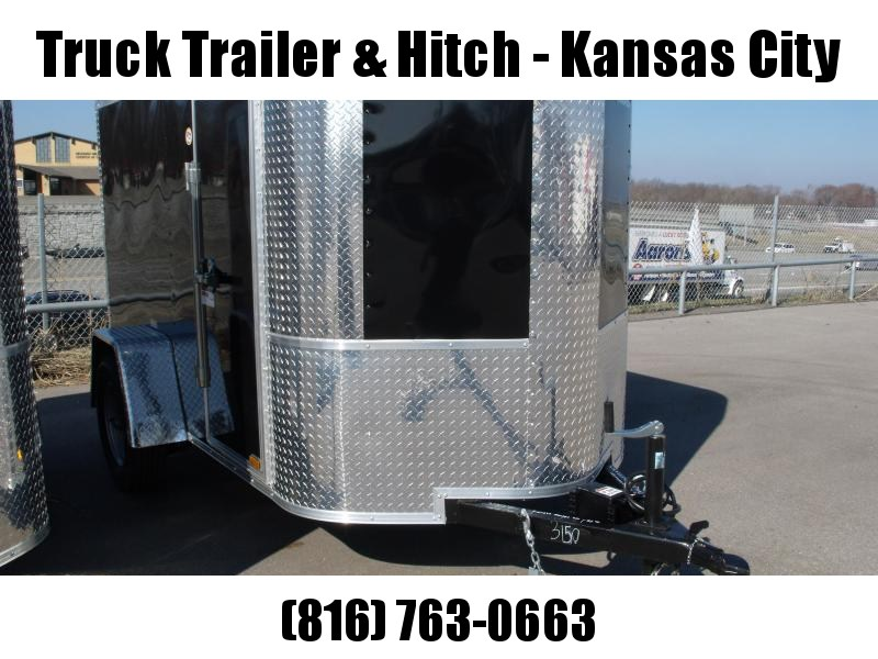 Enclosed Trailer  5 X 8 Ramp 5'  ((FITS IN GARAGE))  Height White In Color