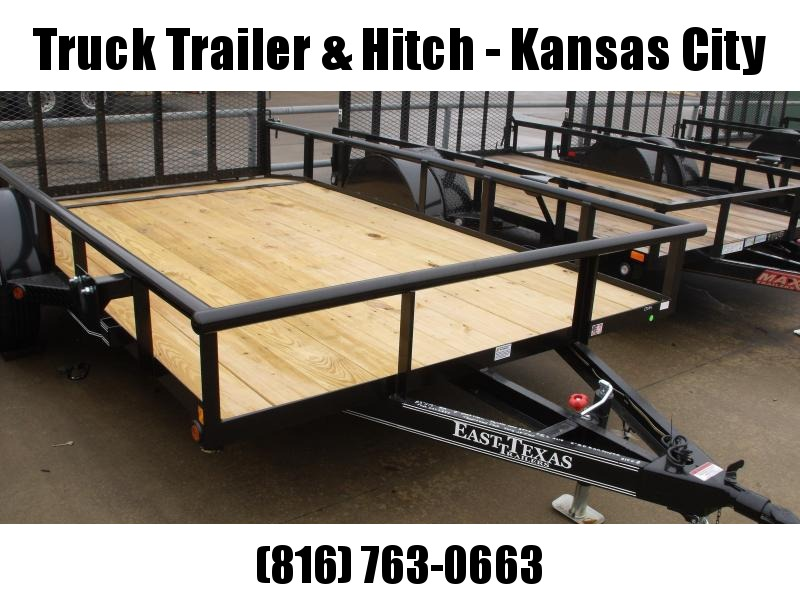 Premium Pipe Rail Top  Utility Trailer 83 X 12 Dove Spring Assist 3'  Tube Gate LED's