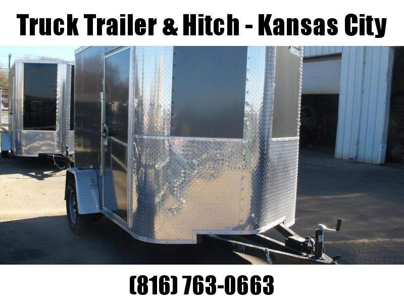"""Enclosed Trailer 6 X 8 Ramp Charcoal In Color ALL Tube Construction 6' 3"""" Interior"""