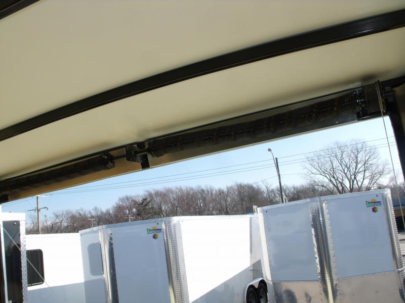 Enclosed Trailer Razor Trailer   8.5 X 24 V Nose 7' Tall Dove Tail Charcoal In Color   14 K