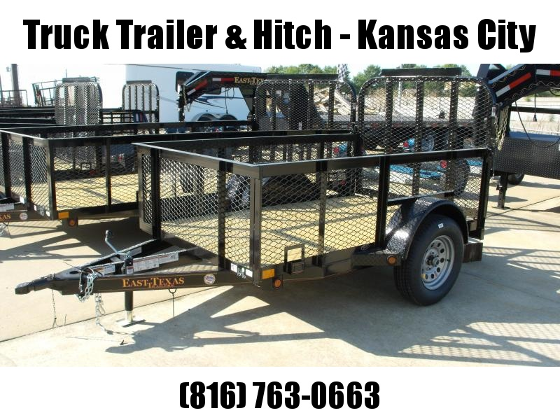 """High-Wall Trailer 5 X 8 Spring Assisted Tubular Gate  24 """" Sides"""