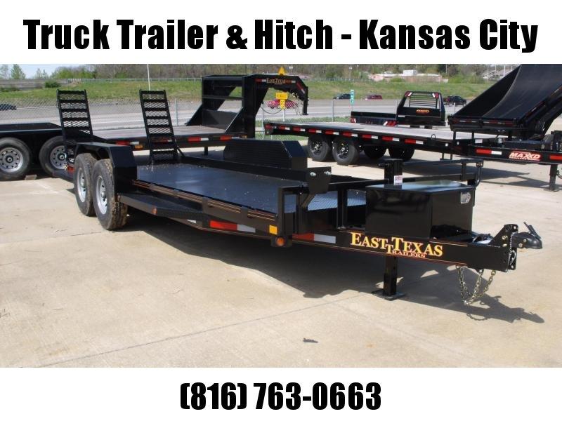 "Bob Cat  Trailer Low Profile  81 X 20 Steel Deck """"  14000 GVW HD Combo Ramps With #6 Mesh HD Fenders"