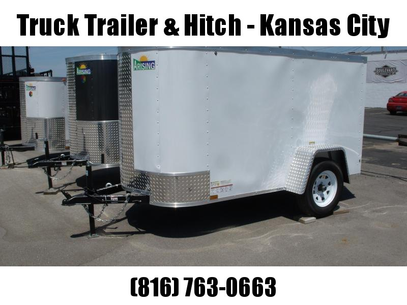 "Enclosed Trailer 4 X 8 BARN DOOR 15"" Tires 2000 # Axle ALL Tube Construction"