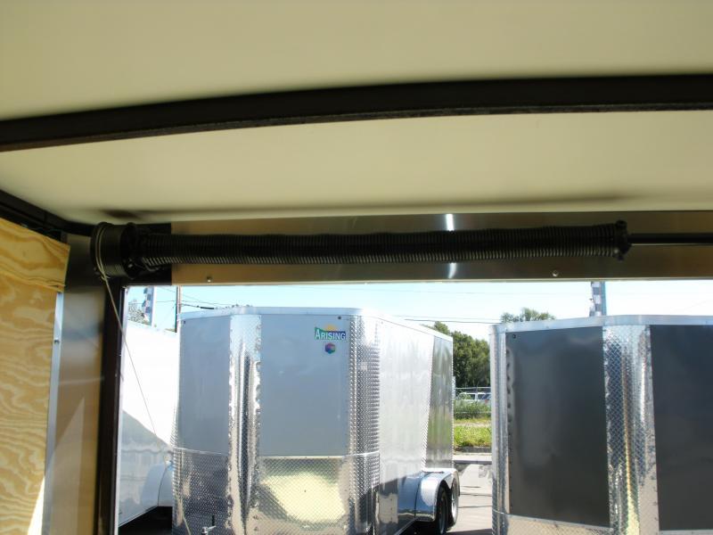 """Enclosed Trailer 7 X 12 RAMP DOOR 7000 GVW 6' 3"""" Height Black In Color"""