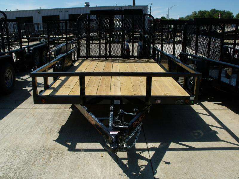 Utility Trailer Tube Top  83 X 12 Spring Assist Tube Gate 5000 # Axle Electric Brakes  LED's