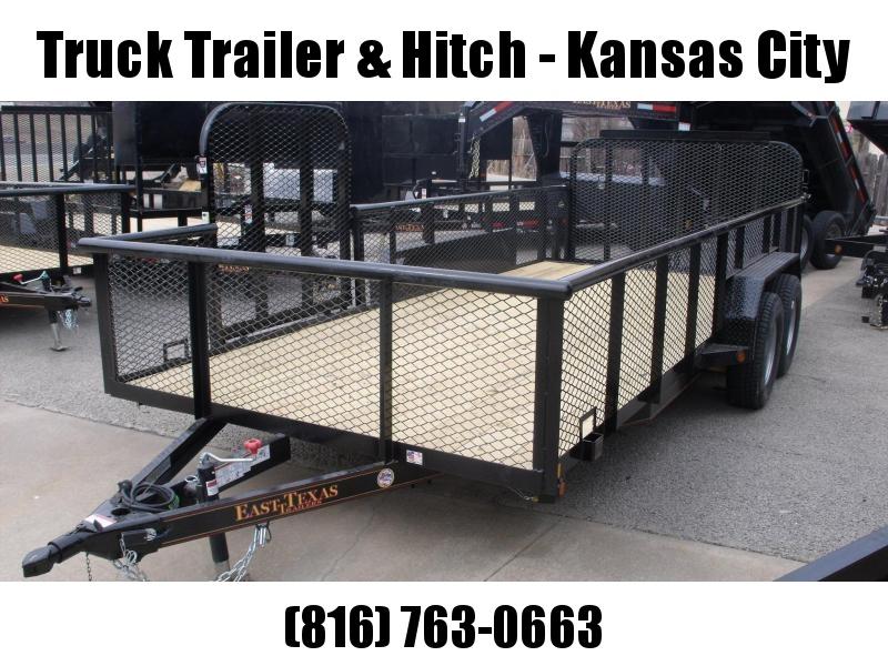 High-Wall Landscape Trailer 83 X 18 Side Load Rear Load