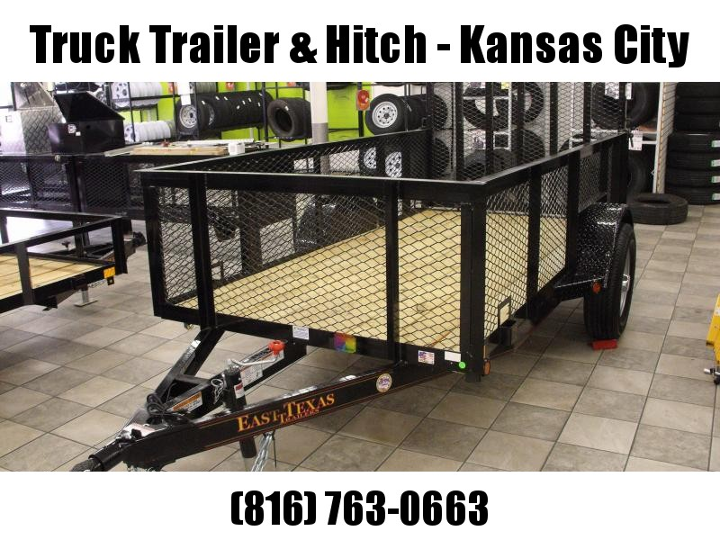 High-Wall Trailer 5 X 10 Wood Deck  Steel Mesh Sides 2990 Axle