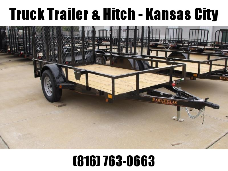Utility Trailer 6 X 10  Tubular Spring Assisted  Ramp 2990 # Axle