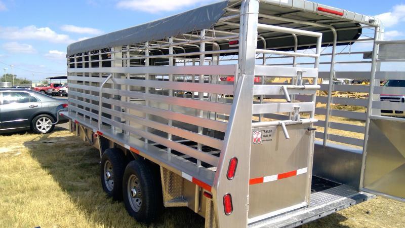 2020 W-W Trailer 6.8x20ft Aluminum Livestock Trailer