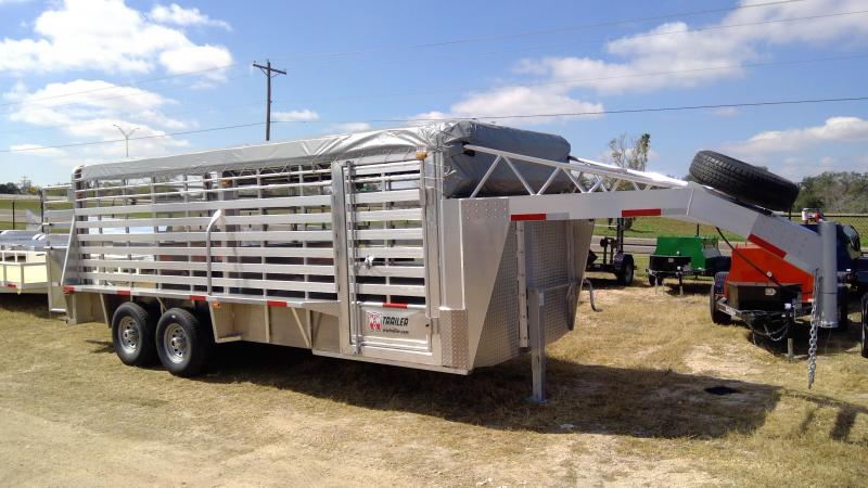 2020 W-W Trailer 6.8x24ft Aluminum Livestock Trailer