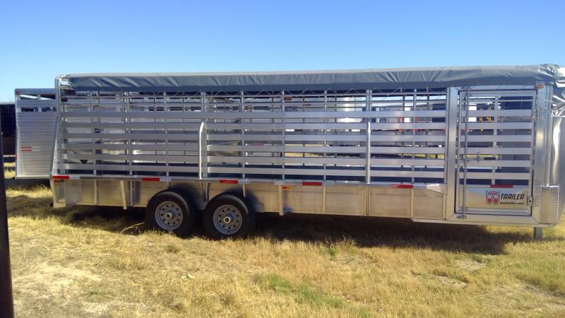 2020 W-W Trailer 24ft Aluminum Livestock Trailer
