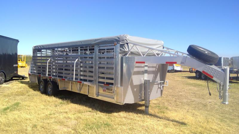 2020 W-W Trailer 25ft Aluminum Livestock Trailer