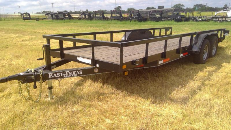 2018 East Texas 20ft Equipment Trailer